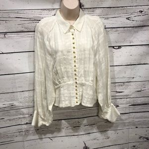 Free People victorian style Dolman sleeve shirt